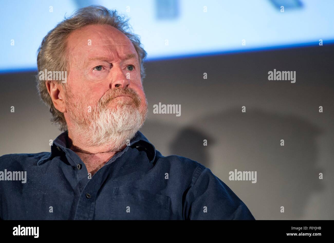 Movie Director Ridley Scott participates in a question and answer session about Mars and the soon to be released - Stock Image