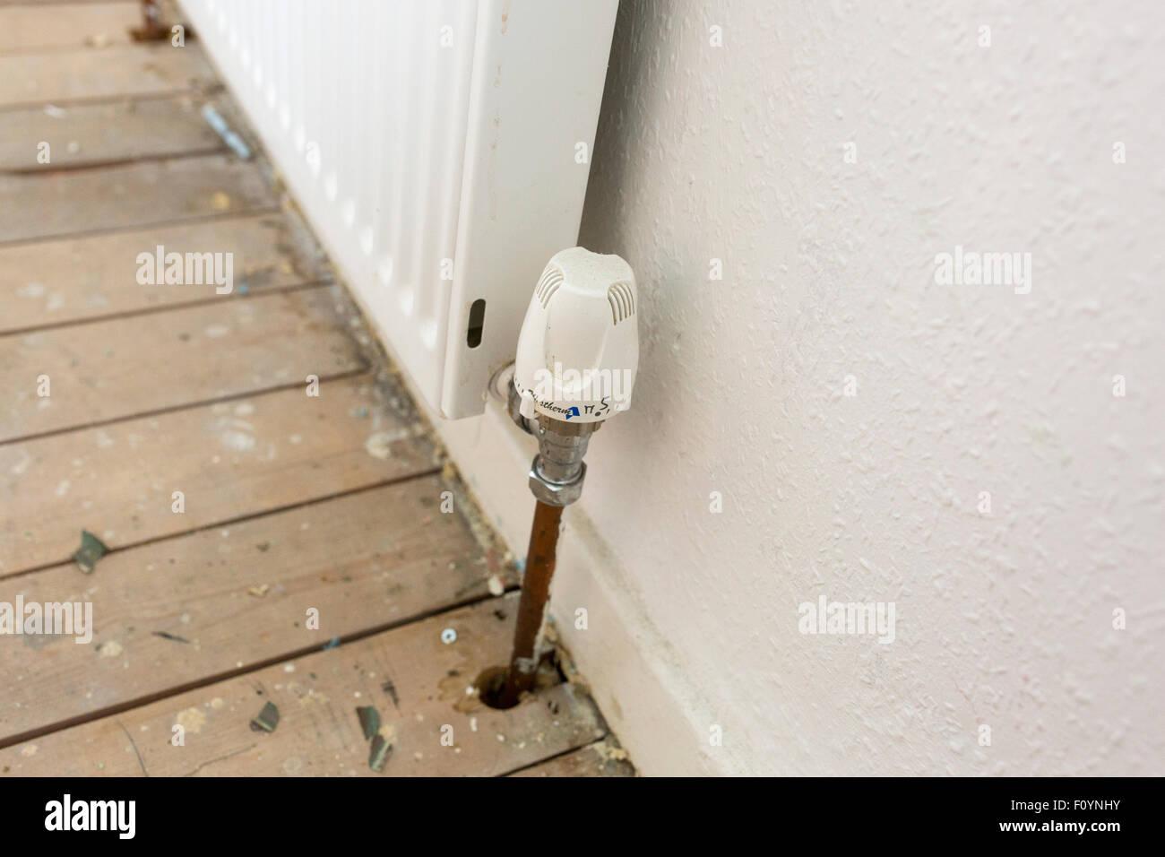 radiator control valve - Stock Image