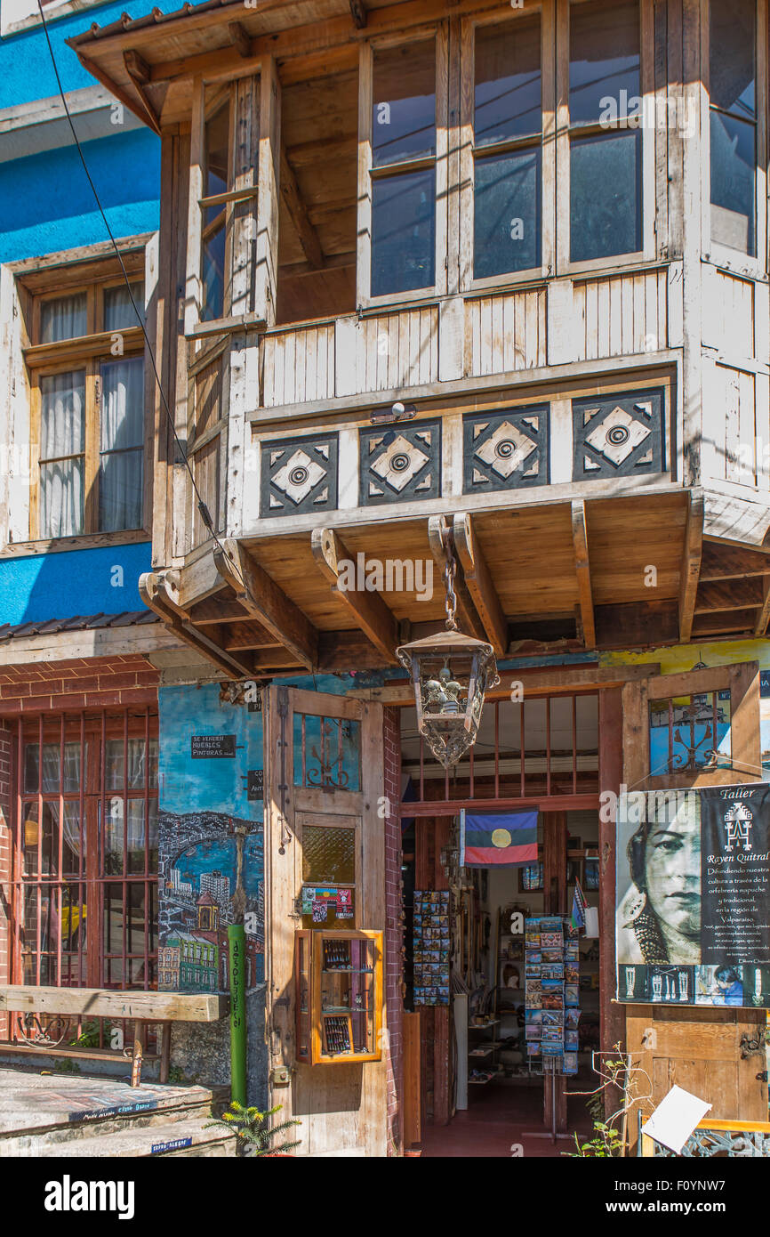 Street art in Valparaiso, Chile - Stock Image