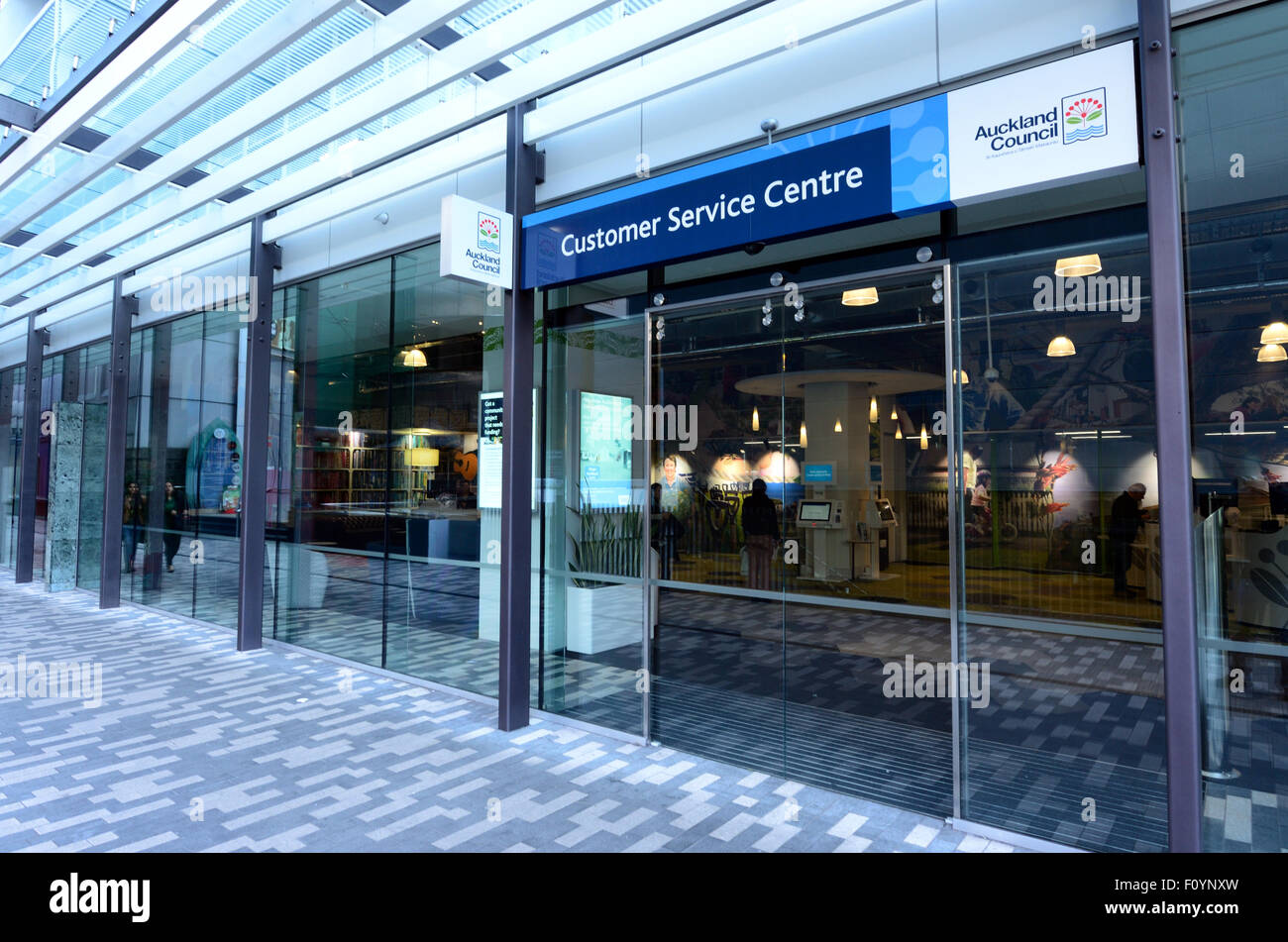 AUCKLAND - AUG 21 2015:Auckland Council customer service centre.It's the largest council in Australasia, with a Stock Photo