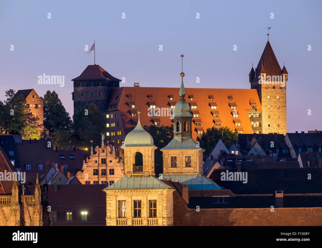 City Hall, Fembohaus, Castle stables, historic centre of Sebald, Nuremberg, Middle Franconia, Franconia, Bavaria, - Stock Image