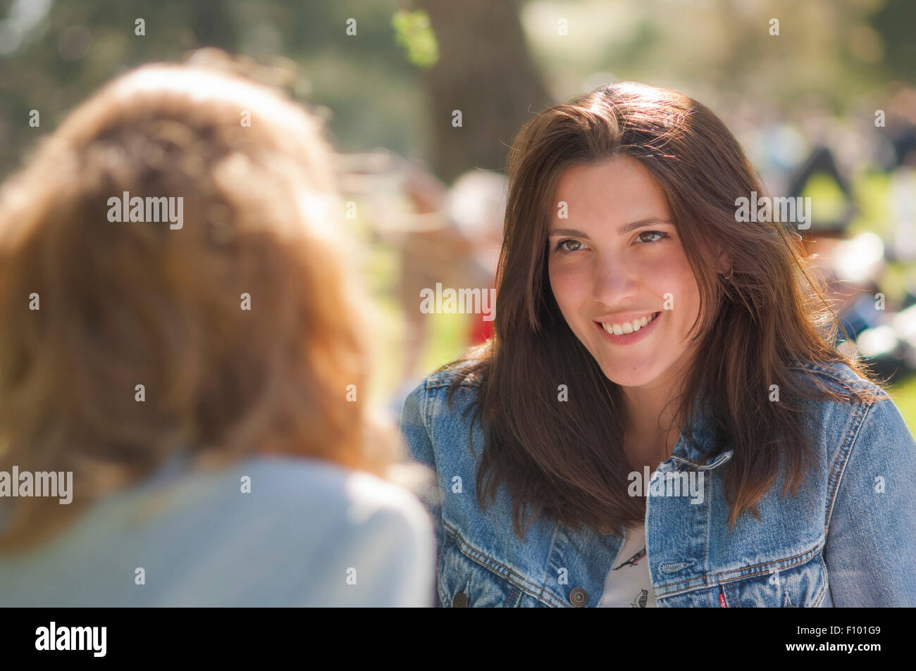 WOMAN OUTDOORS - Stock Image