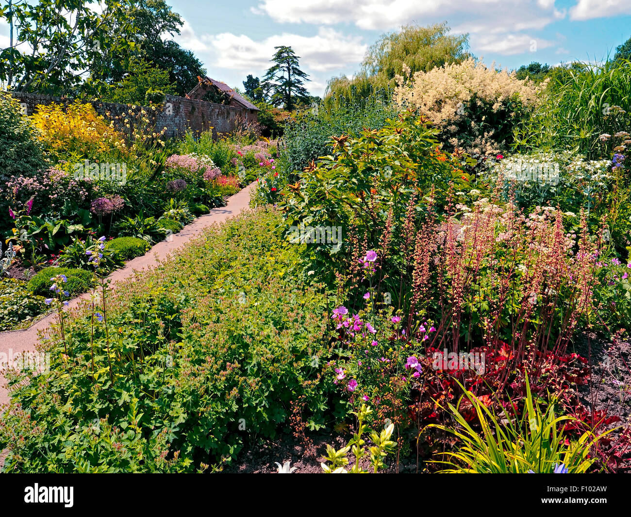 Croft gardens and parklands Herefordshire - Stock Image