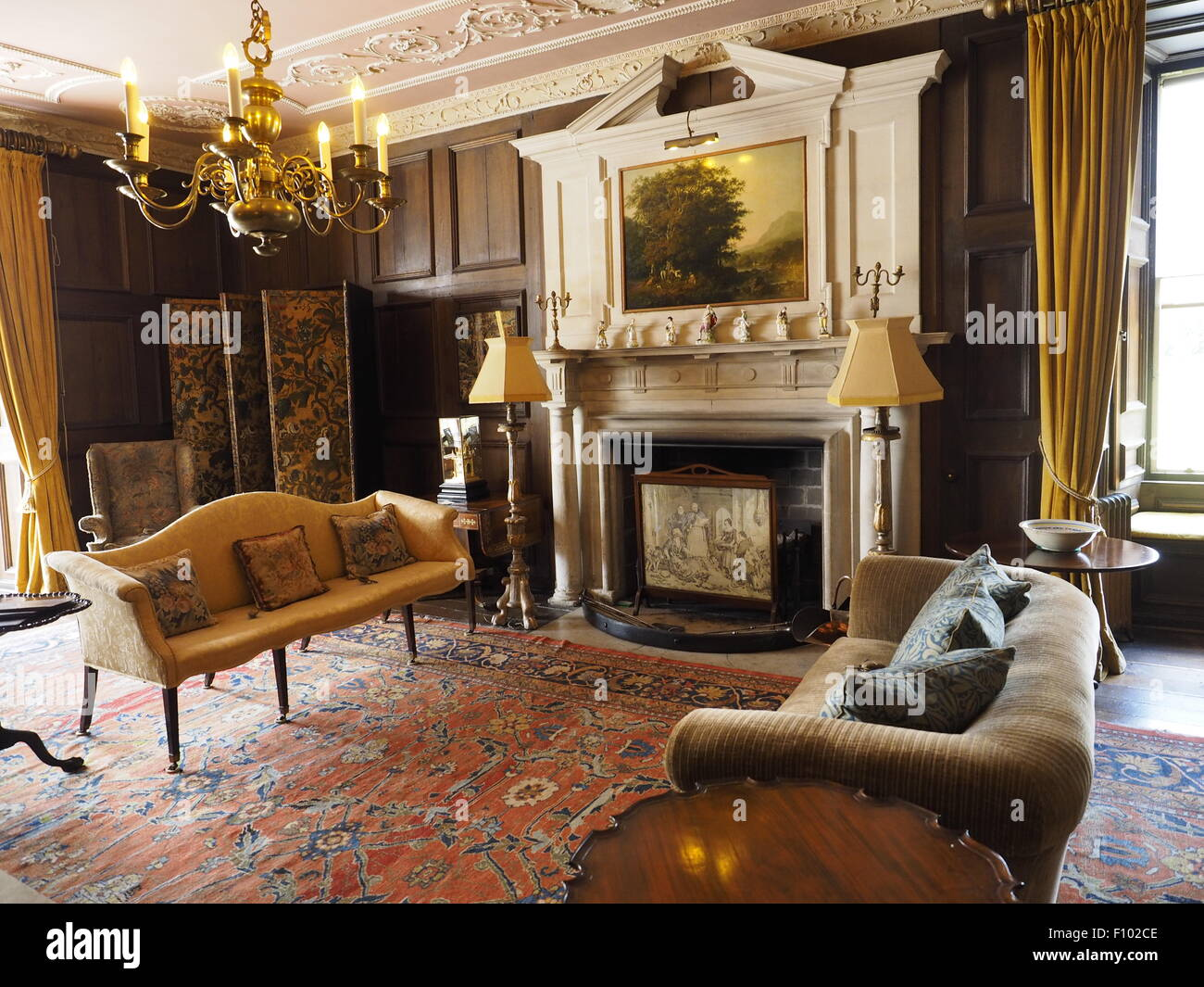 Small Garden Designs And Layouts, Landscape Interior View Croft Castle Is A Late 17th Century House Stock Photo Alamy