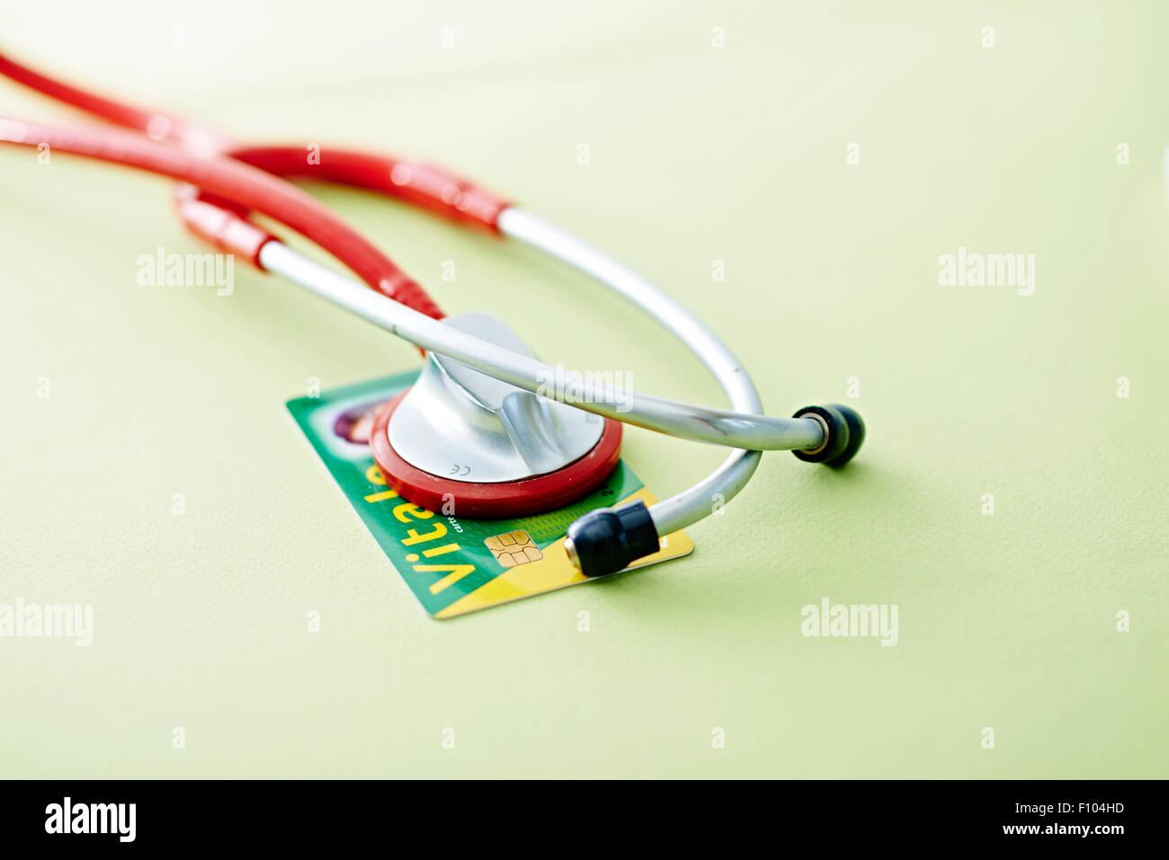 NATIONAL HEALTH SERVICE CARD Stock Photo