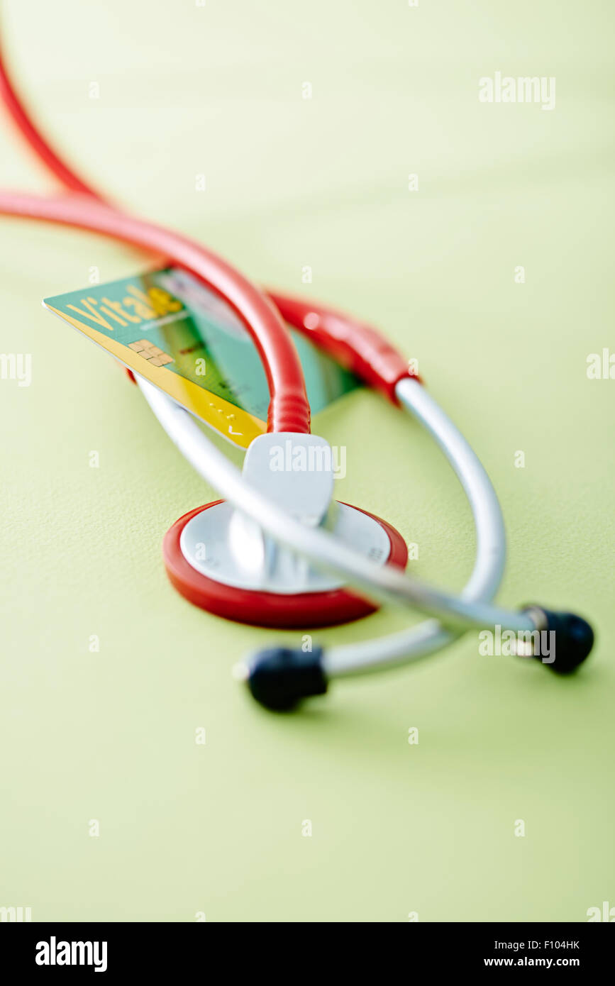 NATIONAL HEALTH SERVICE CARD Stock Photo