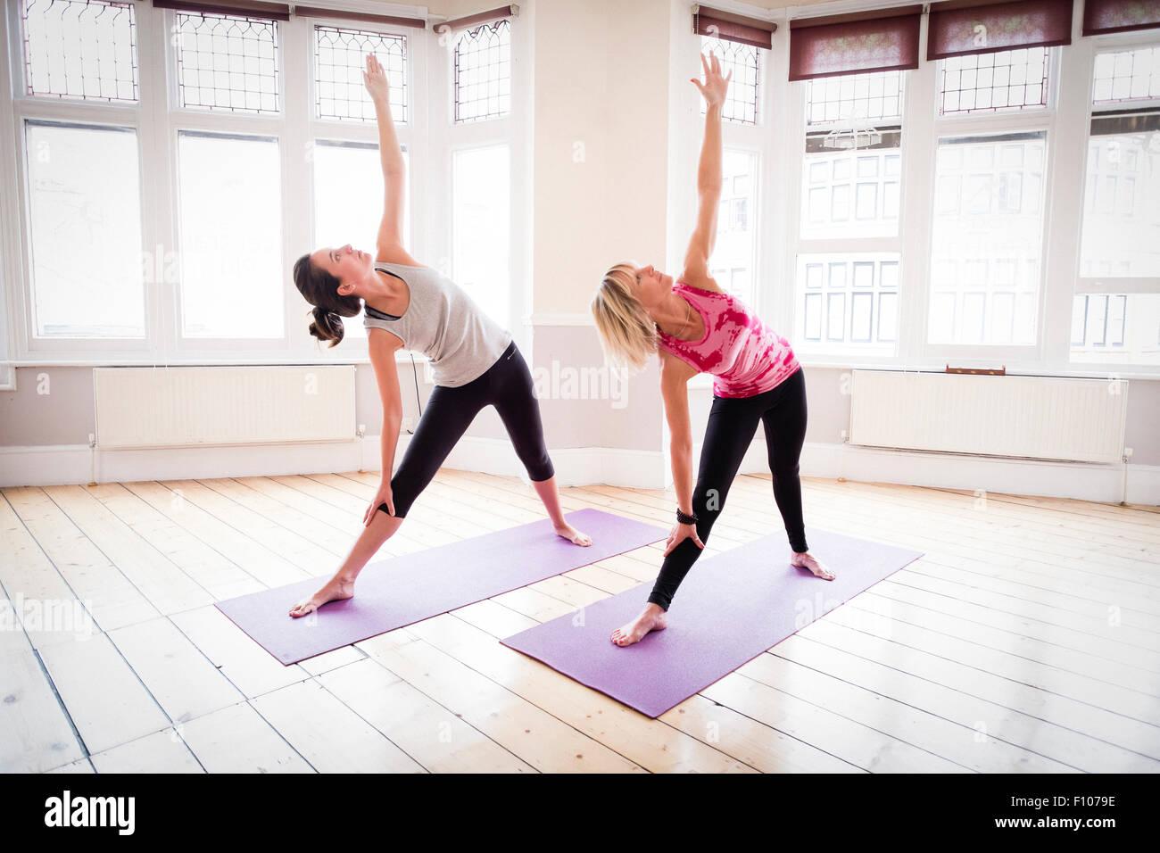 Modern Classroom Yoga ~ Iyengar stock photos images alamy