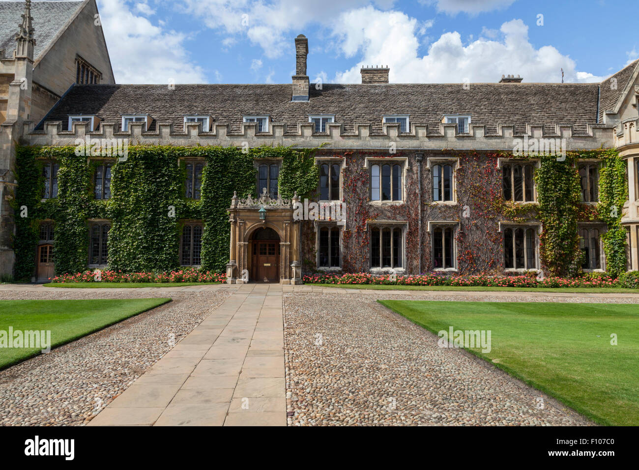 Trinity College Cambridge England, part of the Master's Lodge in the Great Court. - Stock Image