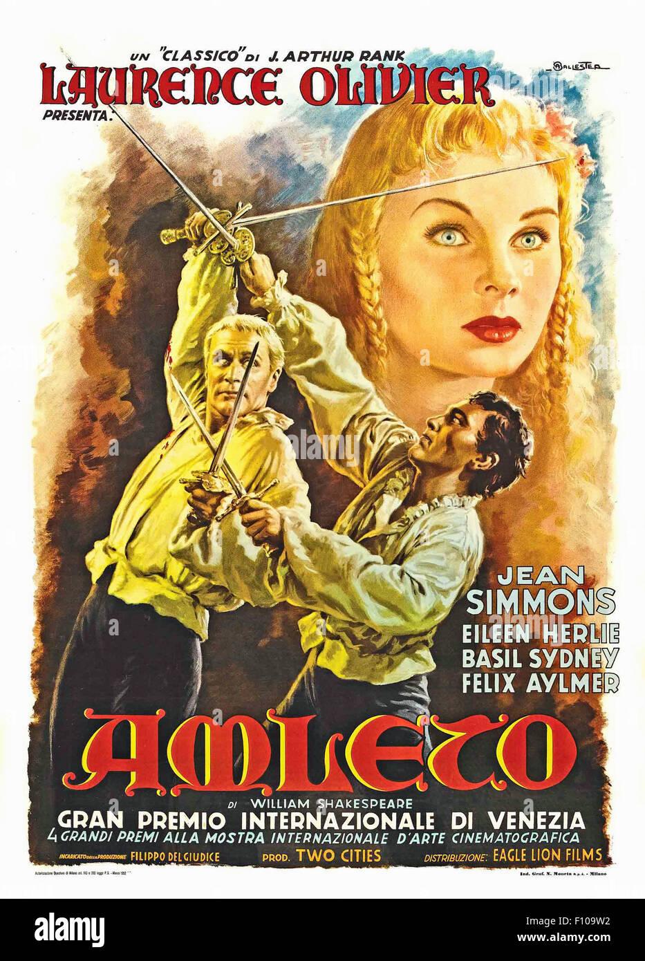 Hamlet (1948) - Italian Movie Poster - Stock Image