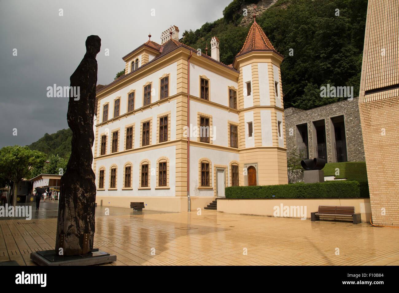 Government buildings in Vaduz Liechtenstein Stock Photo