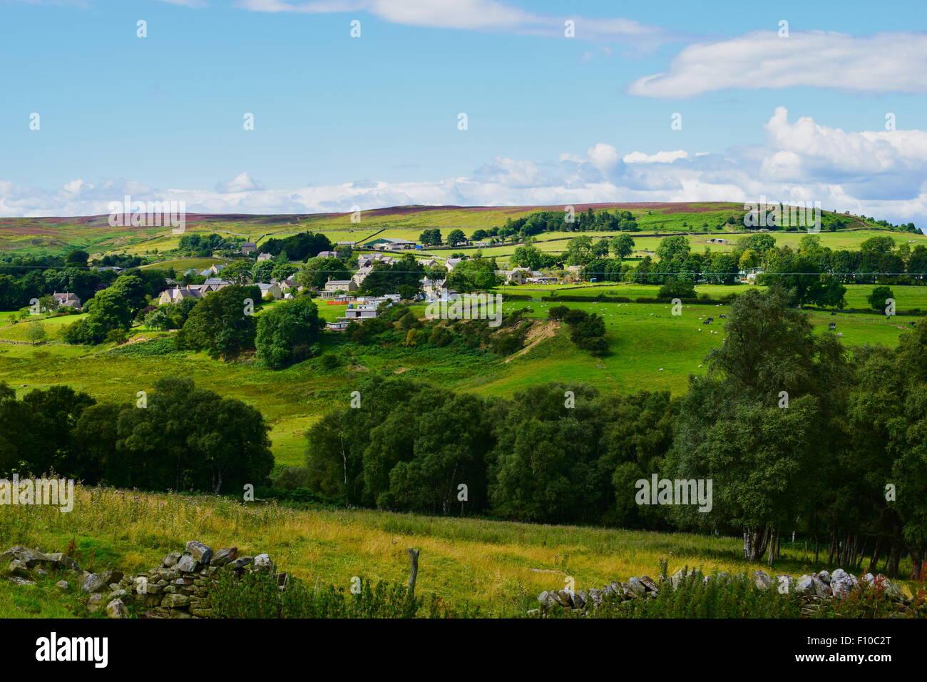 The village of Edmundbyers, County Durham, England - Stock Image