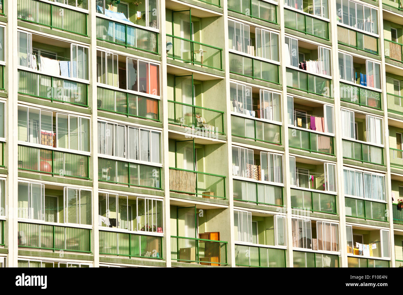 popular flats residential building - Stock Image