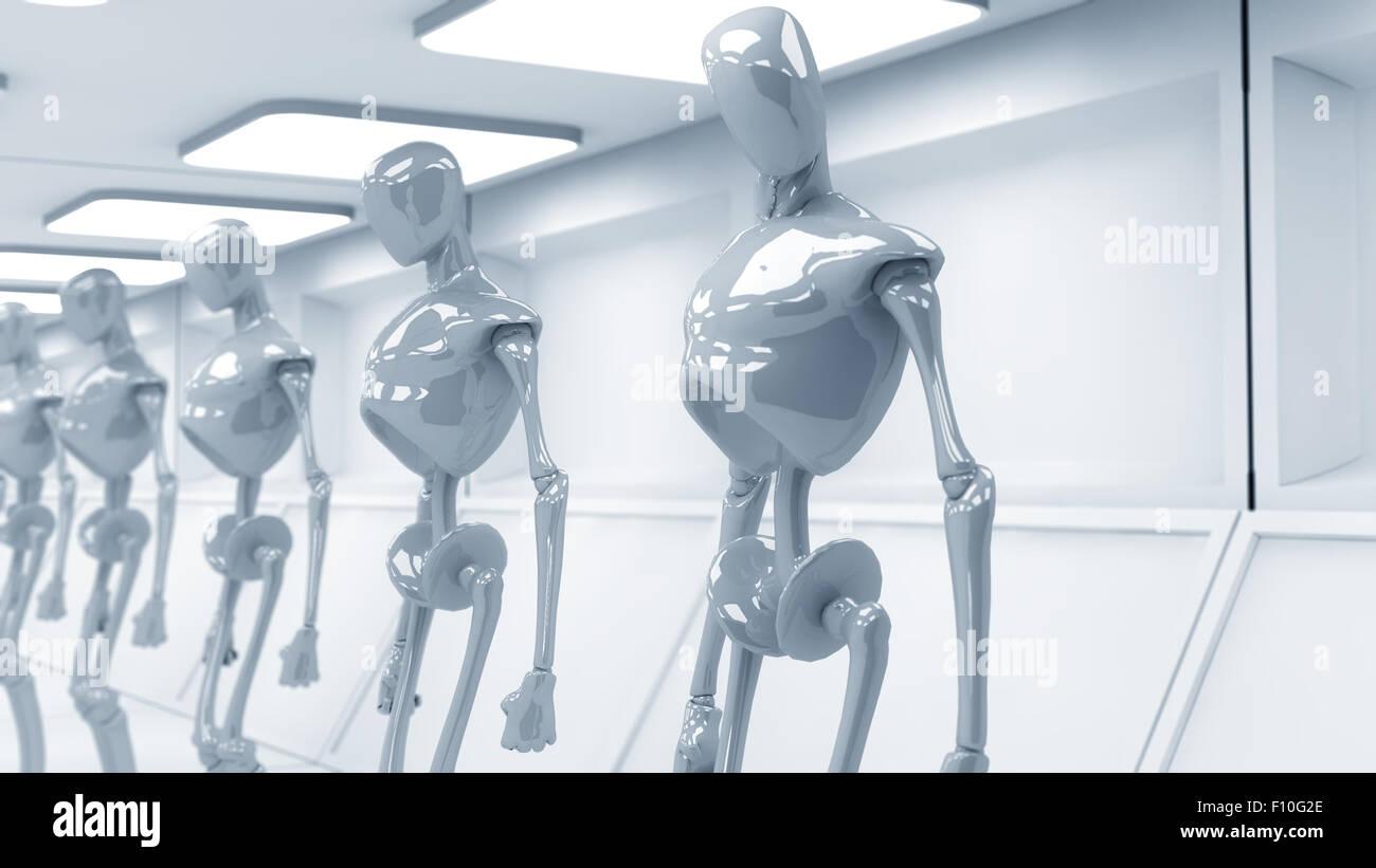 SCIFI futuristic robots - Stock Image