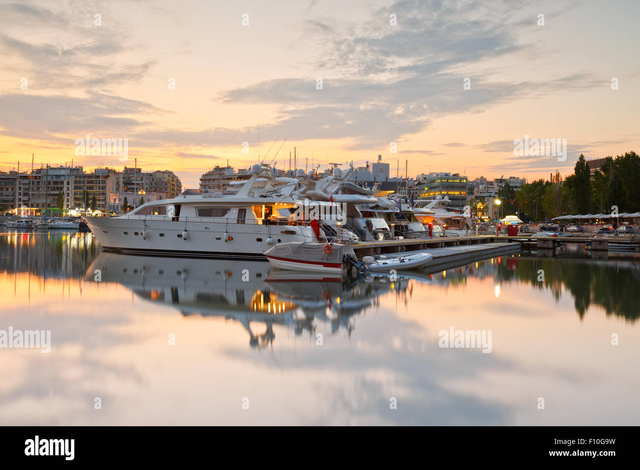 Yachts in Zea Marina in Athens, Greece Stock Photo