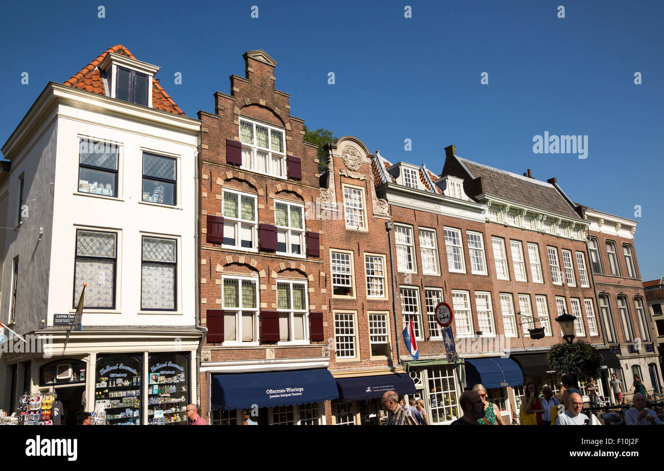 Historic merchant houses in central Utrecht, Netherlands - Stock Image