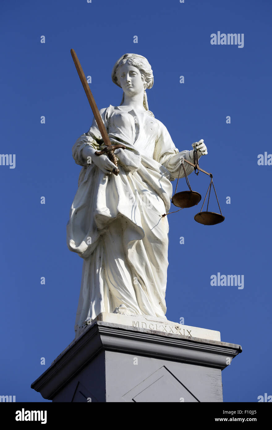 Lady justice statue. - Stock Image