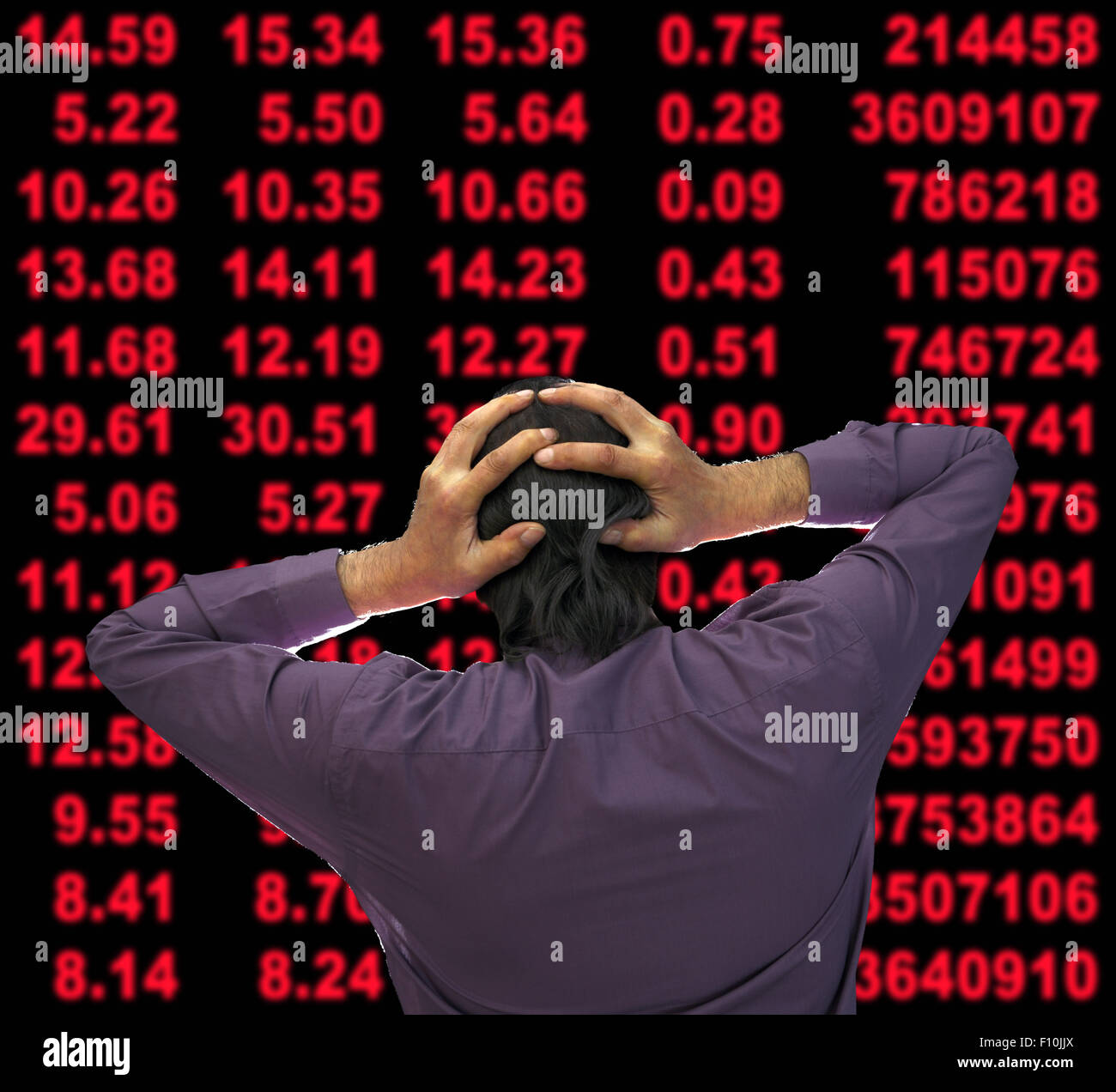 Stock market crash. - Stock Image