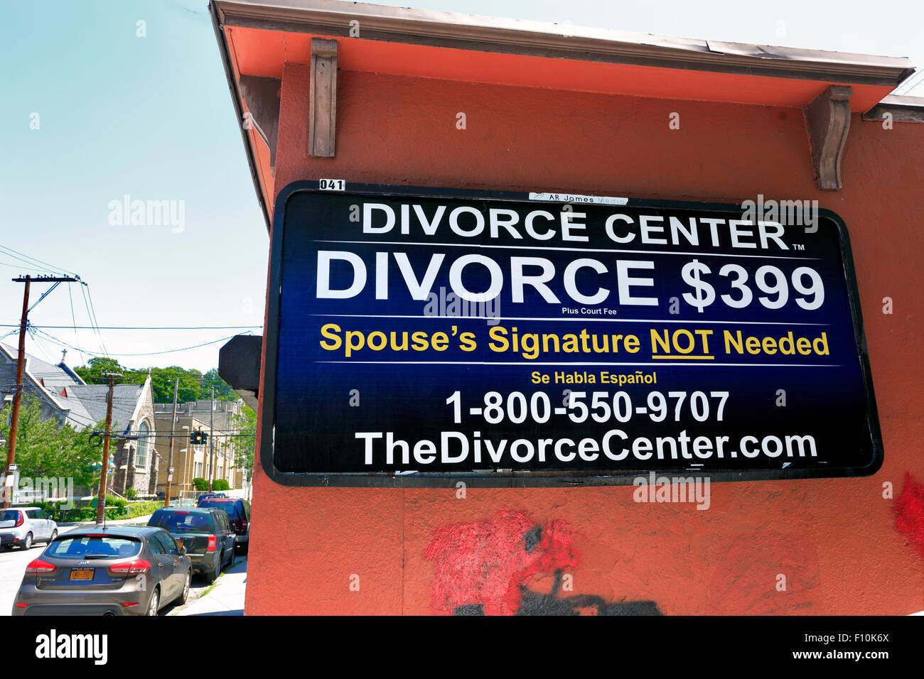 Divorce center Yonkers New York - Stock Image