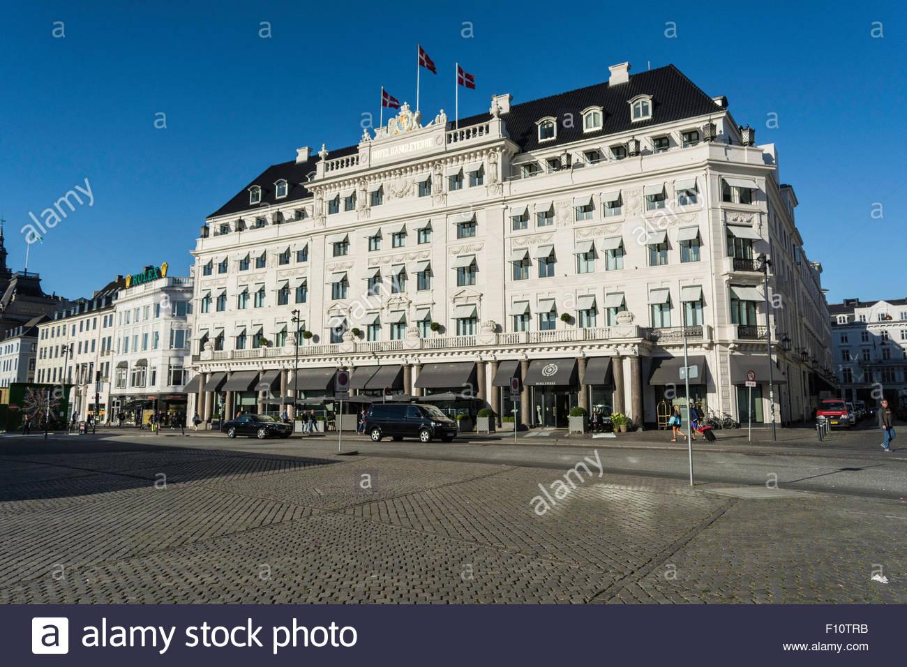 Hotel d'Angleterre, Kongens Nytorv, Copenhagen, Hovedstaden Region, Denmark, EU - Stock Image