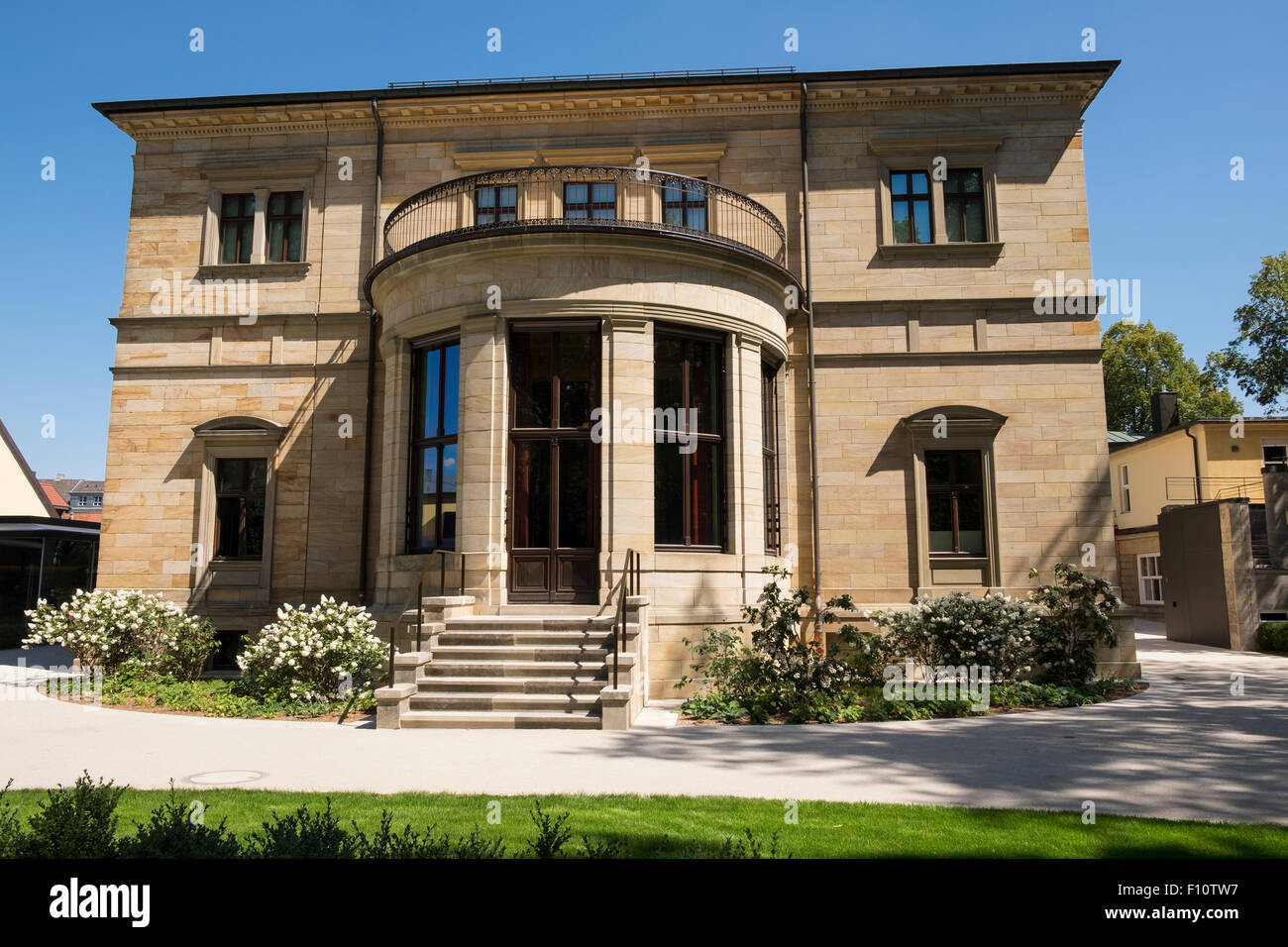 Villa Wahnfried - home of the composer Richard Wagner in the town of Bayreuth, Germany.  Now a museum. Stock Photo