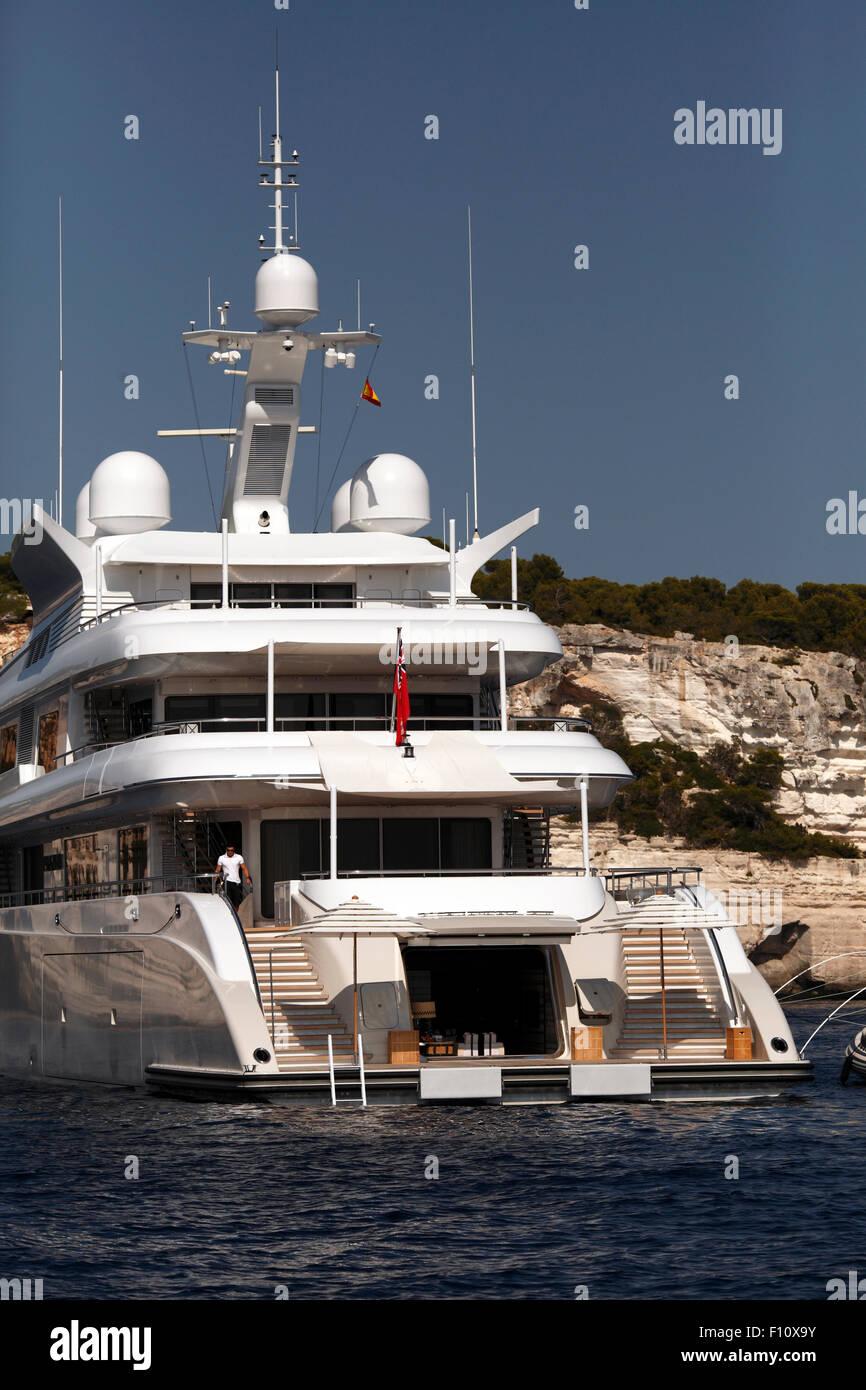 Plan B. Charter Yacht in the Mediterranean. Stock Photo