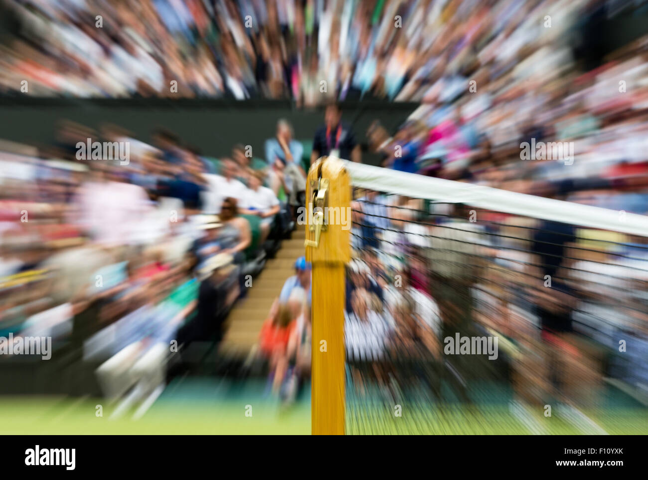 Wimbledon net post Stock Photo