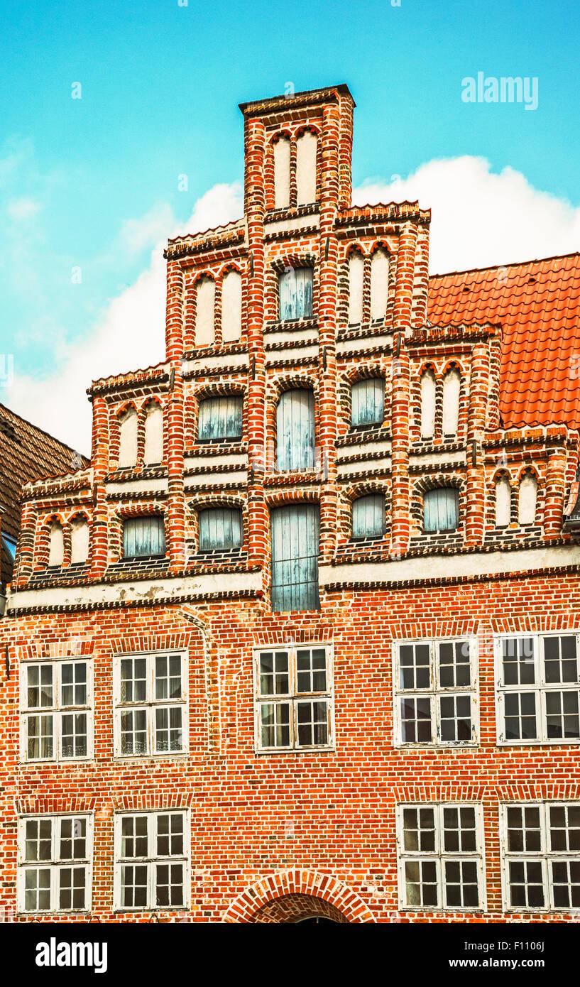 Lueneburg, hanseatic city in Lower Saxony; Lüneburg, alte Hansestadt in Niedersachsen - Stock Image