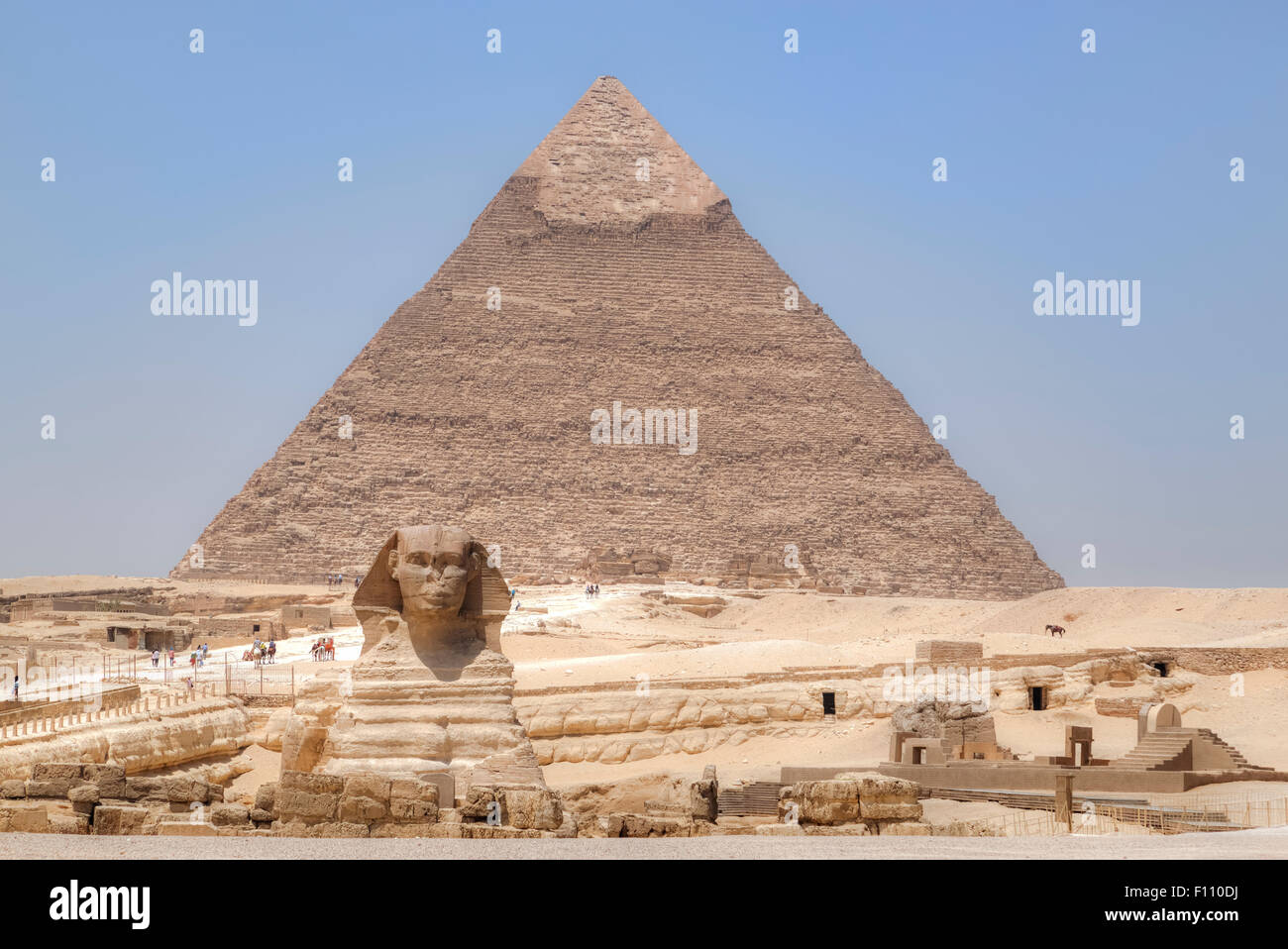 Great Sphinx of Giza, Giza, Cairo, Egypt, Africa - Stock Image