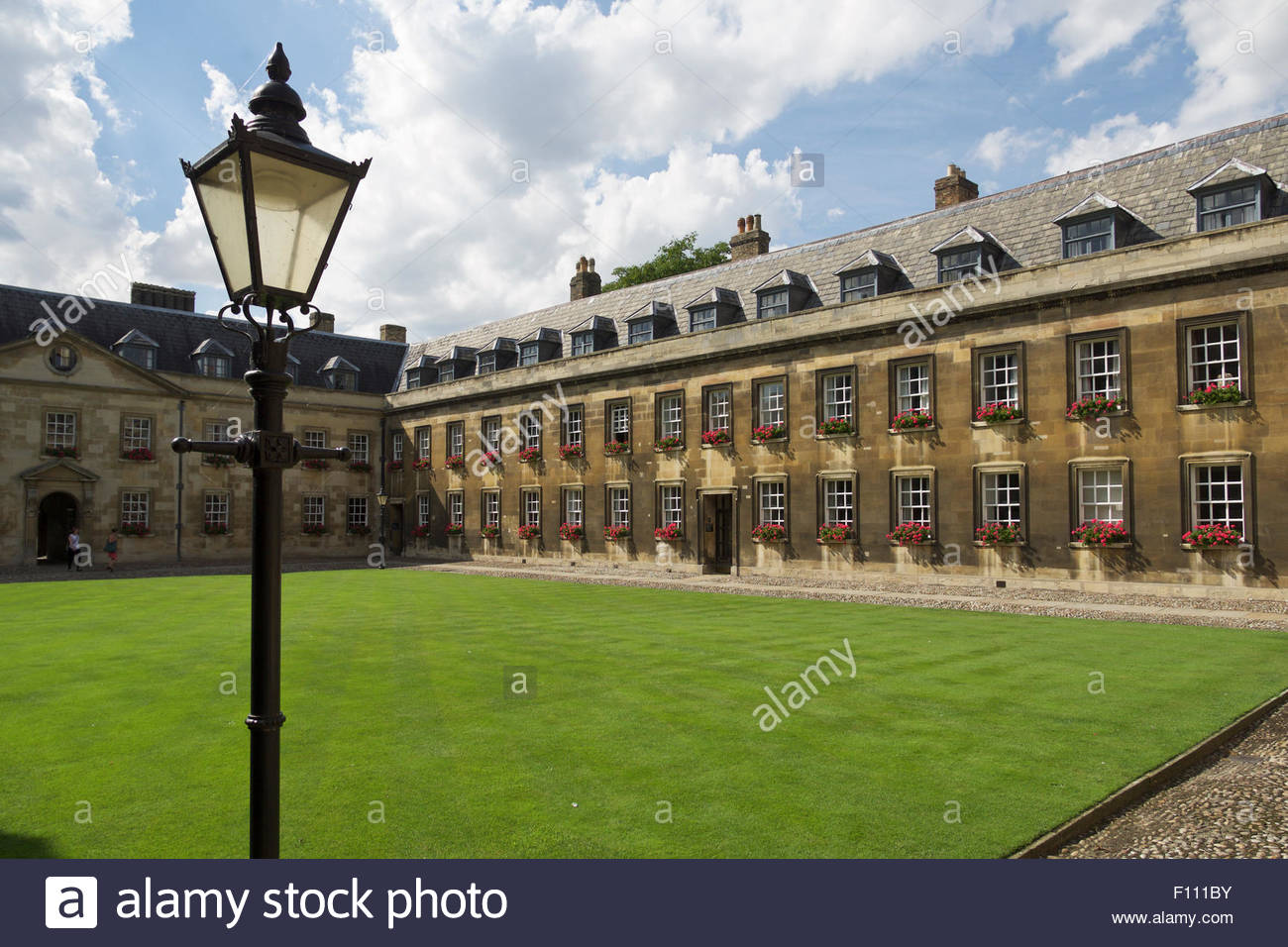 Old Court of Peterhouse College: Cambridge. - Stock Image