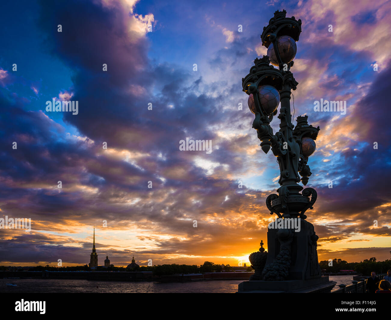 view on peter and paul fortress, neva river, saint-petersburg, russia - Stock Image