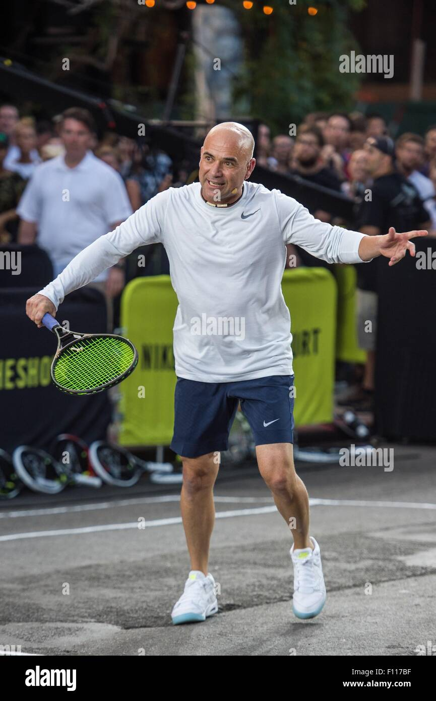 new product d942f 47d4f Andre Agassi in attendance