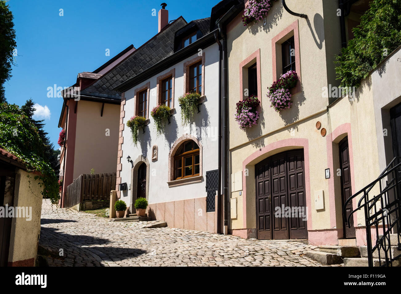 Loket (Elbow) - a town in the Sokolov District of the Czech Republic, Europe - location for the James Bond film - Stock Image