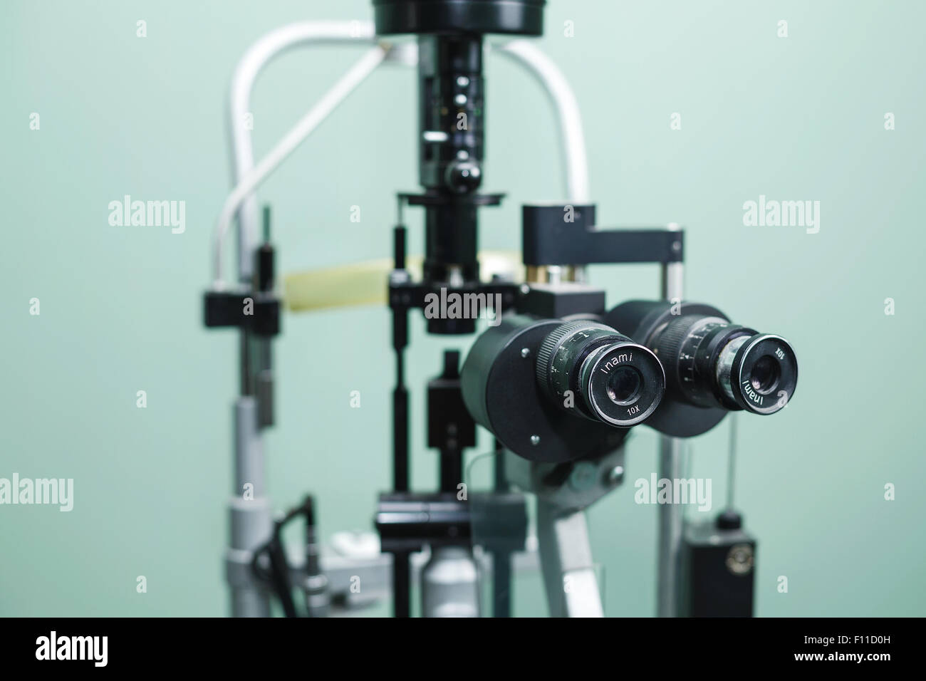 Medical optometrist equipment used for  eye exams - Stock Image