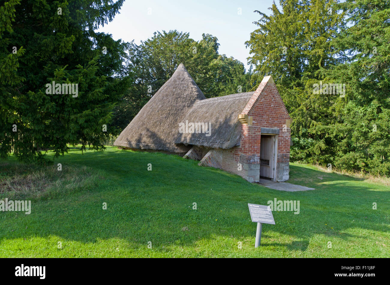 The historic 18th century ice house in the grounds of Compton Verney House, Warwickshire. - Stock Image