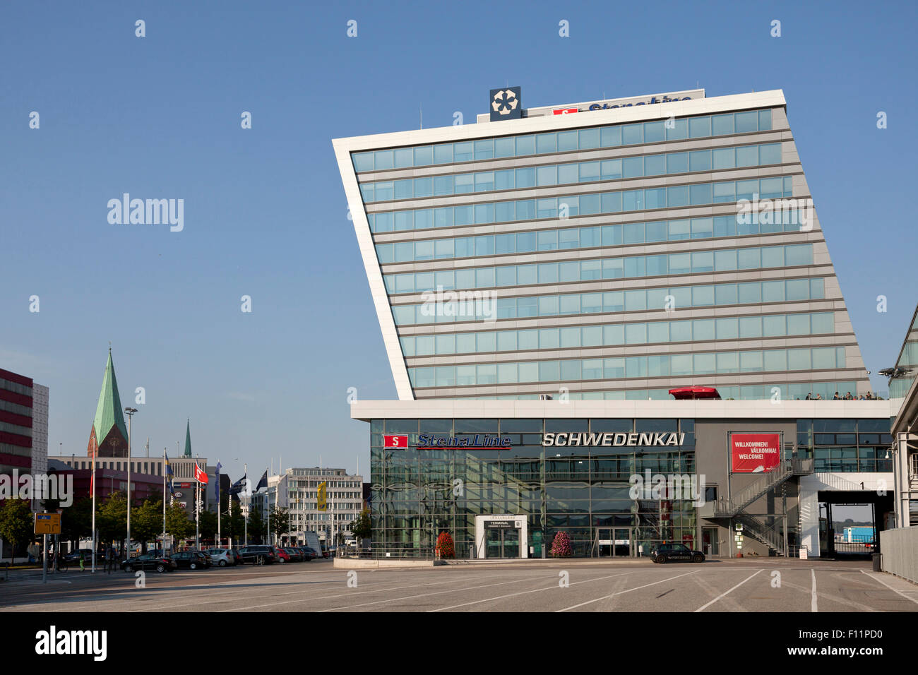 Stena Line building in Kiel, Schleswig-Holstein, Germany - Stock Image