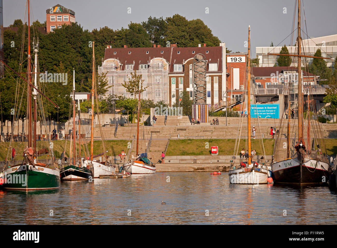 Germania harbour in Kiel, Schleswig-Holstein, Germany - Stock Image
