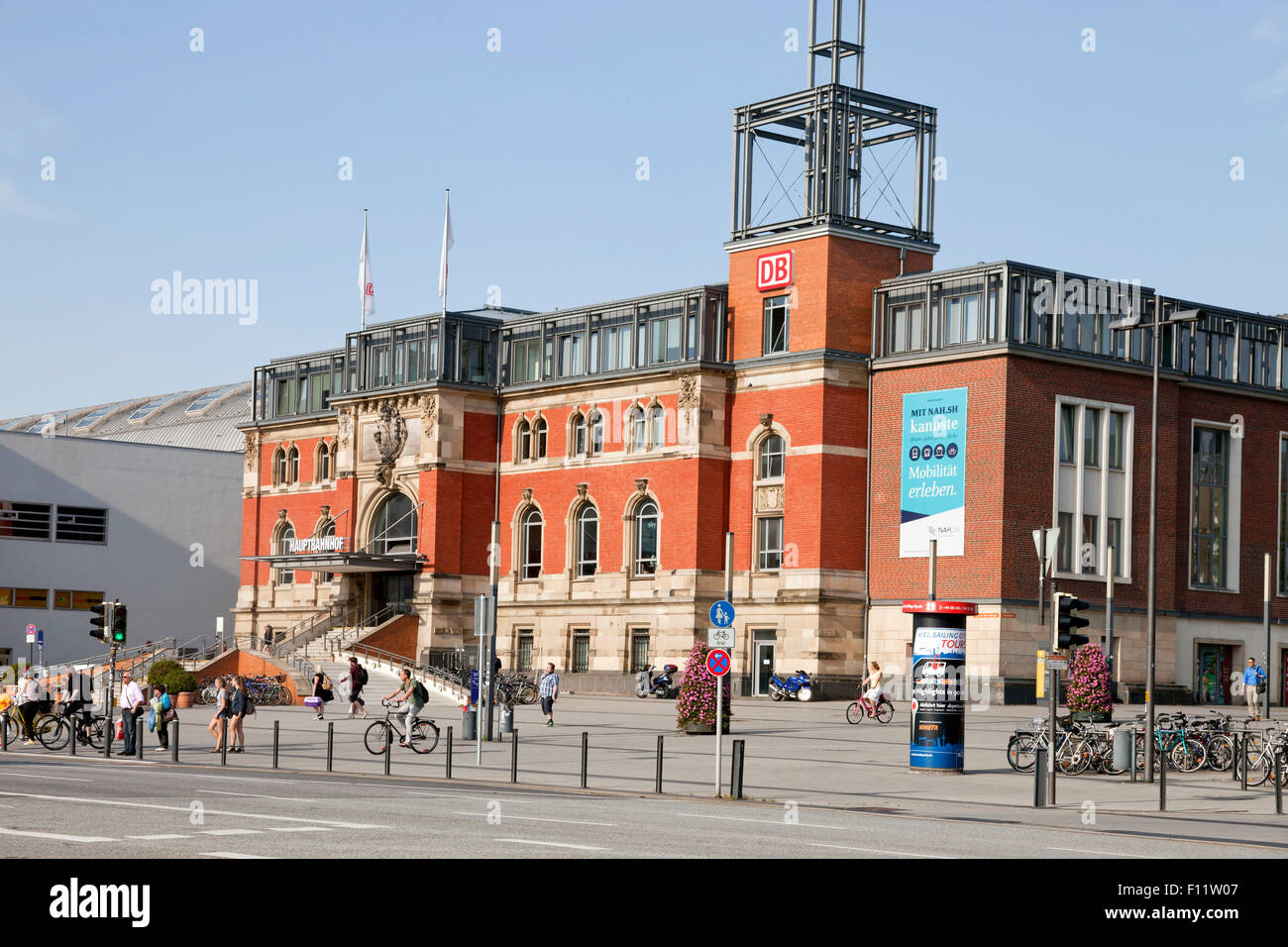 main train station, Kiel, Schleswig-Holstein, Germany - Stock Image