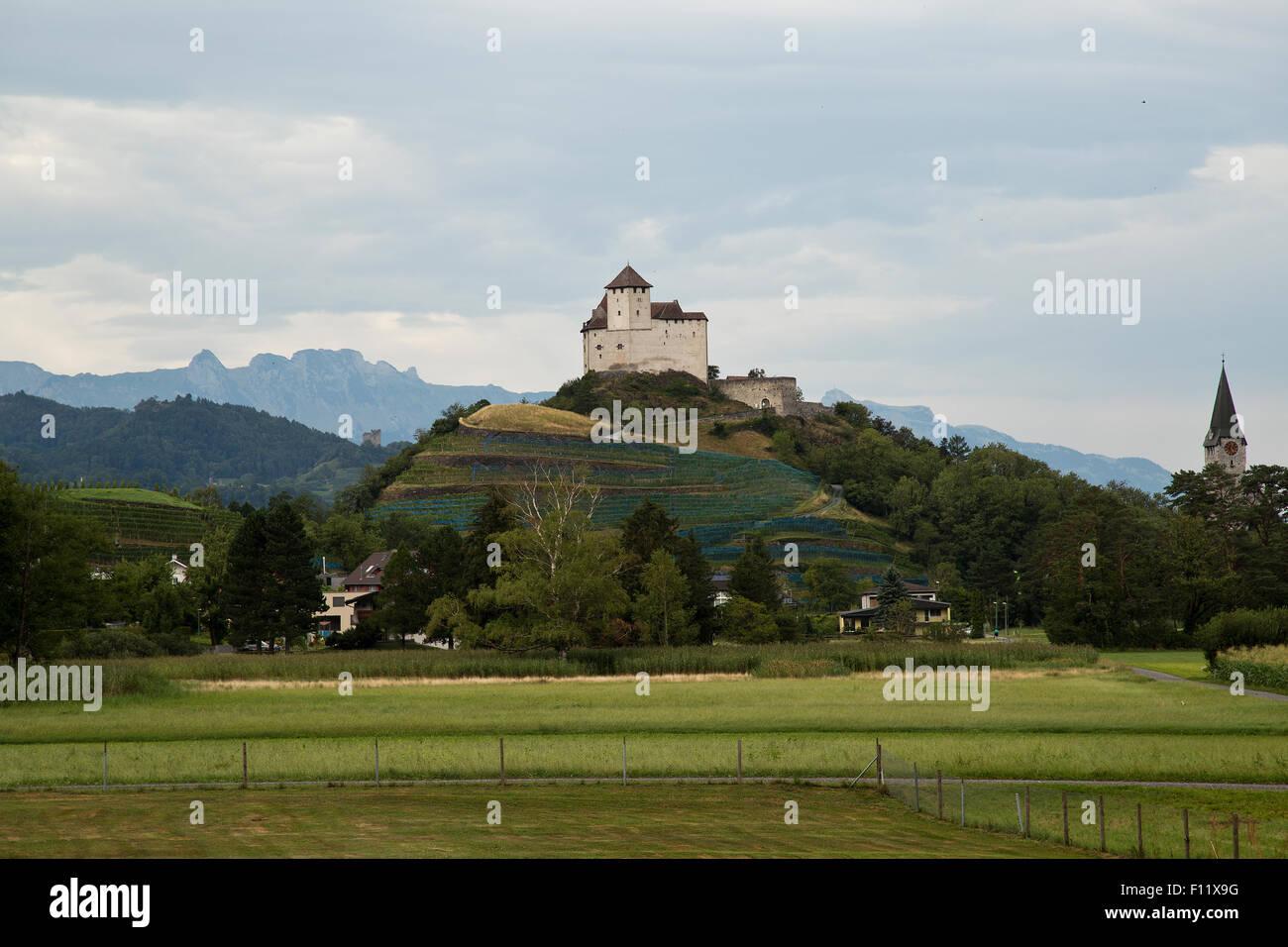 Burg Gutenberg castle in Liechtenstein Stock Photo