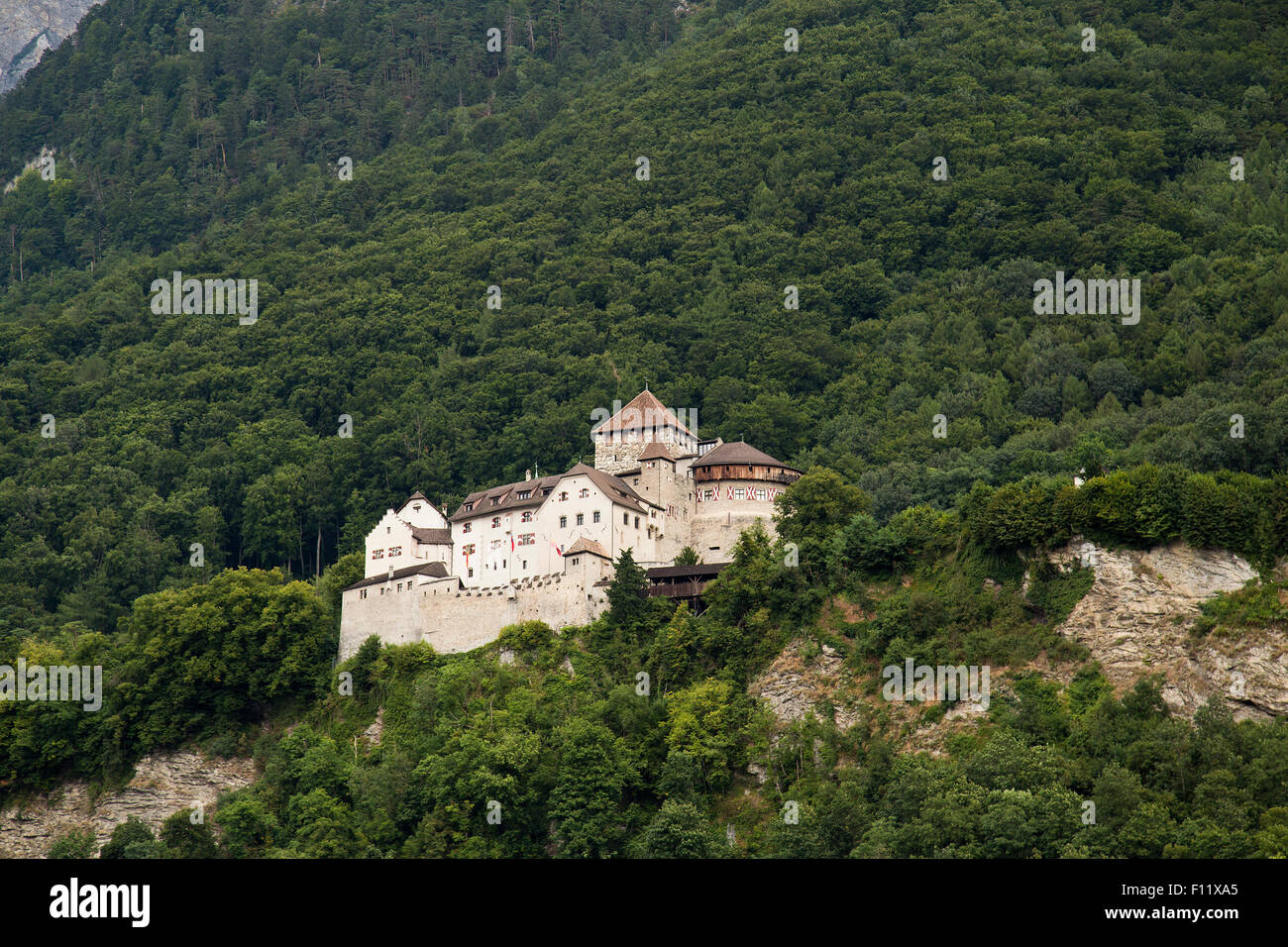 Vaduz castle the home of the Liechtenstein Royal family Stock Photo