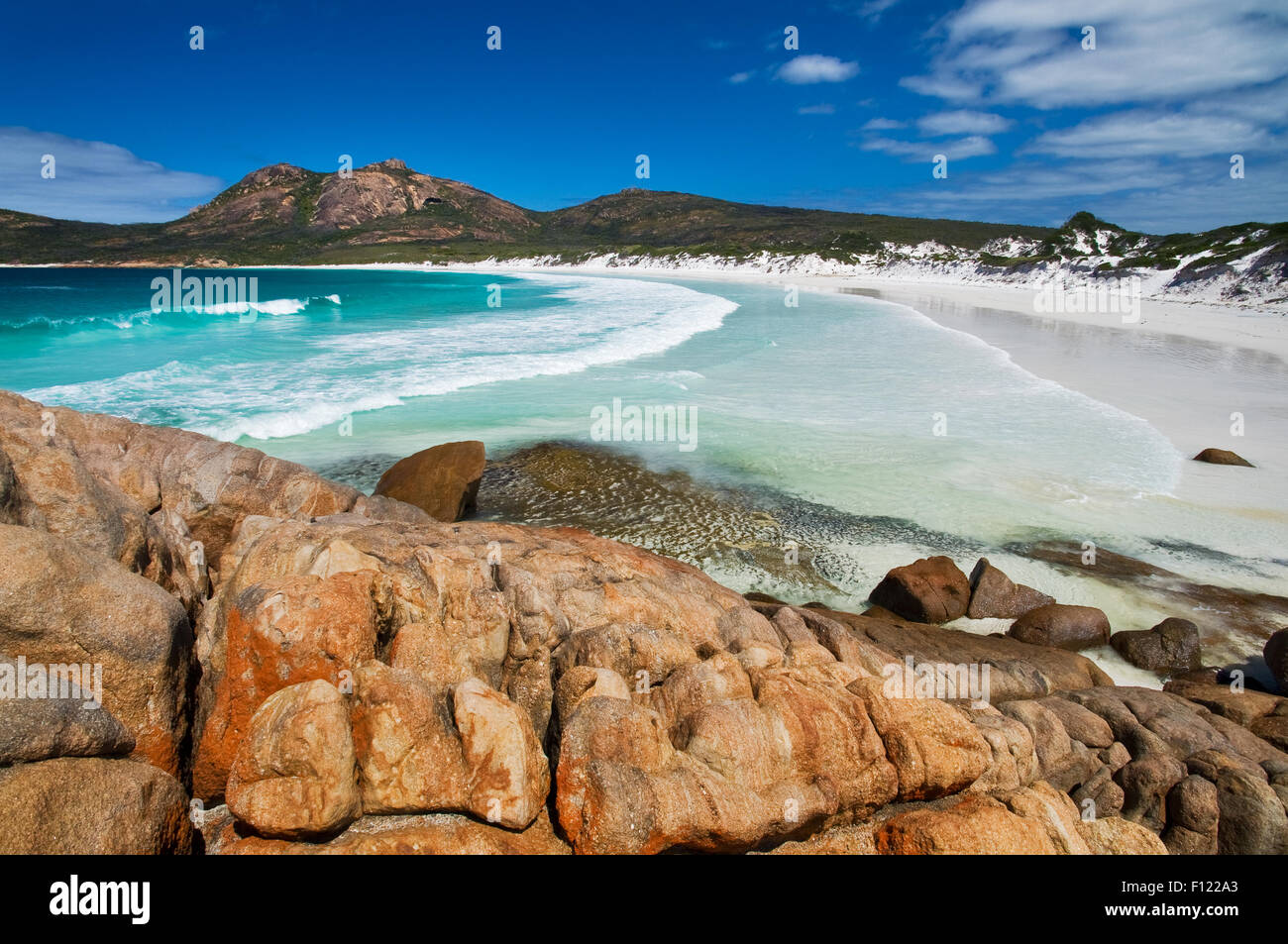 Turquoise waters in Thistle Cove. - Stock Image