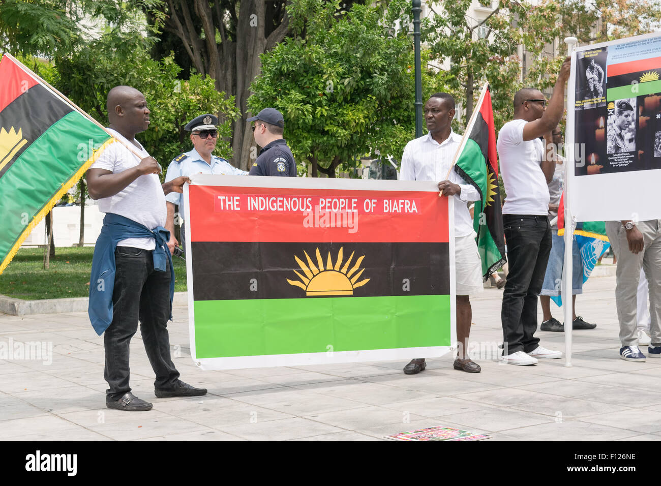 Biafra flag stock photos biafra flag stock images alamy date 30 may 2015 location sintagma in athens greece event the thecheapjerseys Image collections