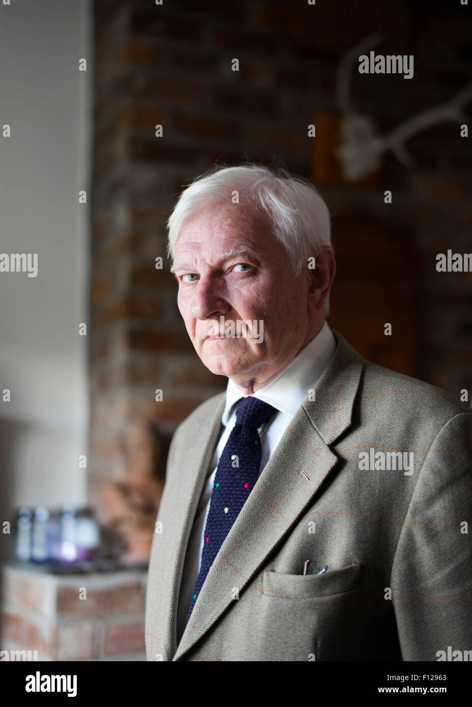 Harvey Proctor, the former Conservative MP, at his home in Rutland, UK - Stock Image