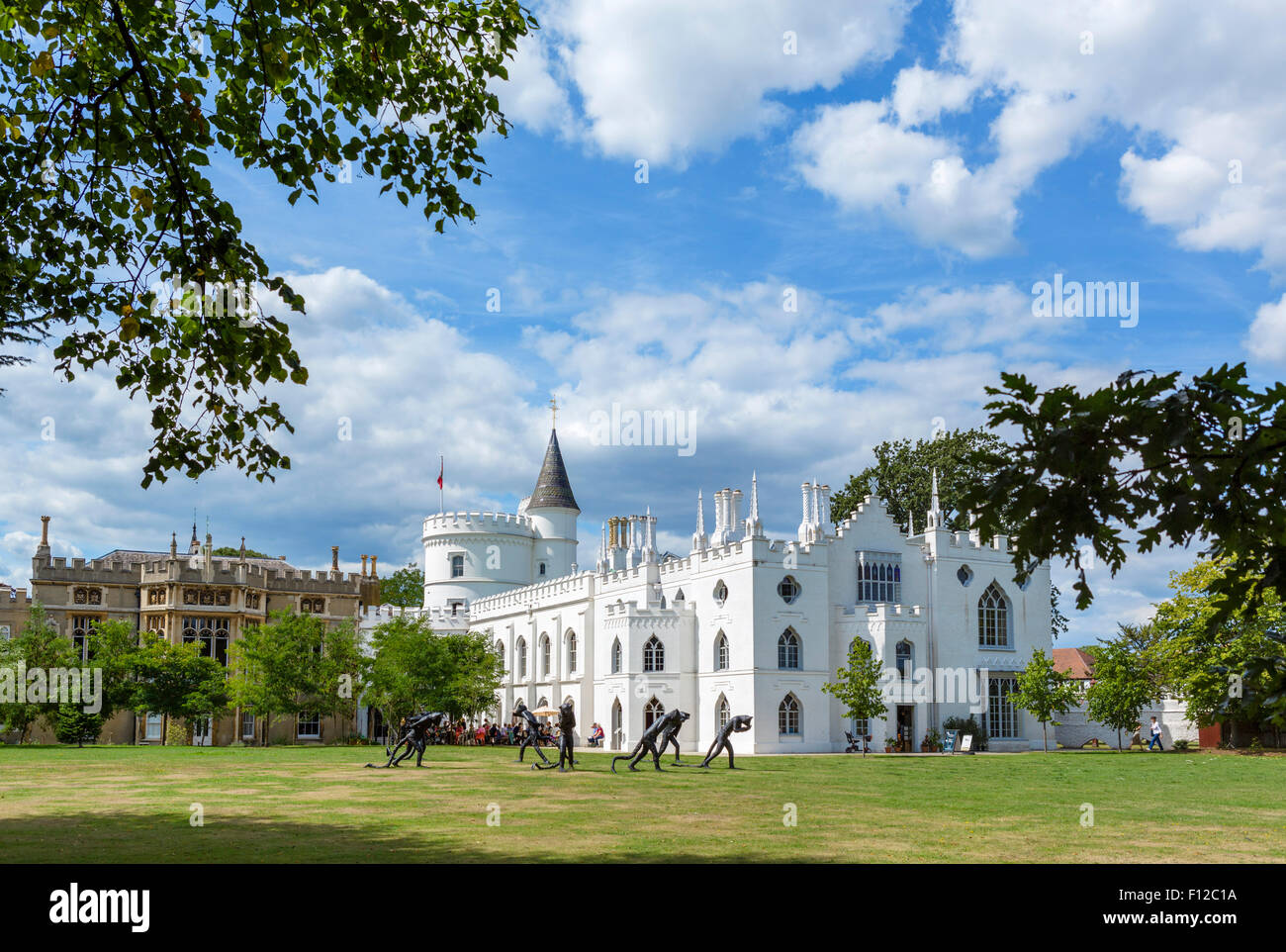 Strawberry Hill House, Horace Walpole's 18thC Gothic Revival villa in Twickenham, London, England, UK - Stock Image