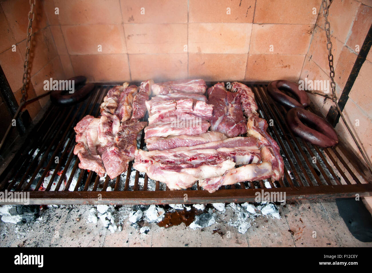 Barbecue from Argentina (Raw) - Stock Image