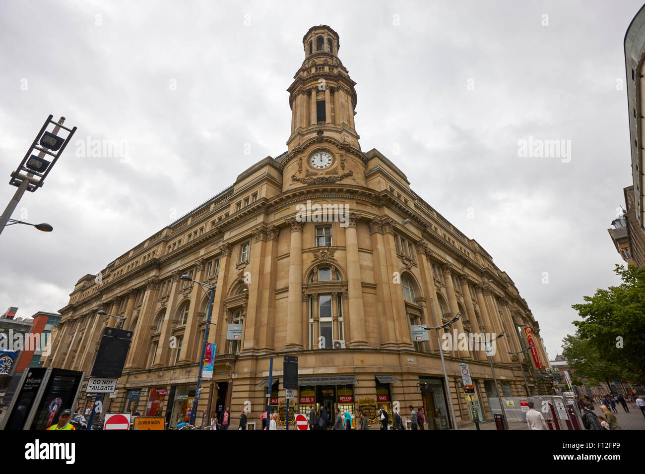 royal exchange building Manchester England UK - Stock Image