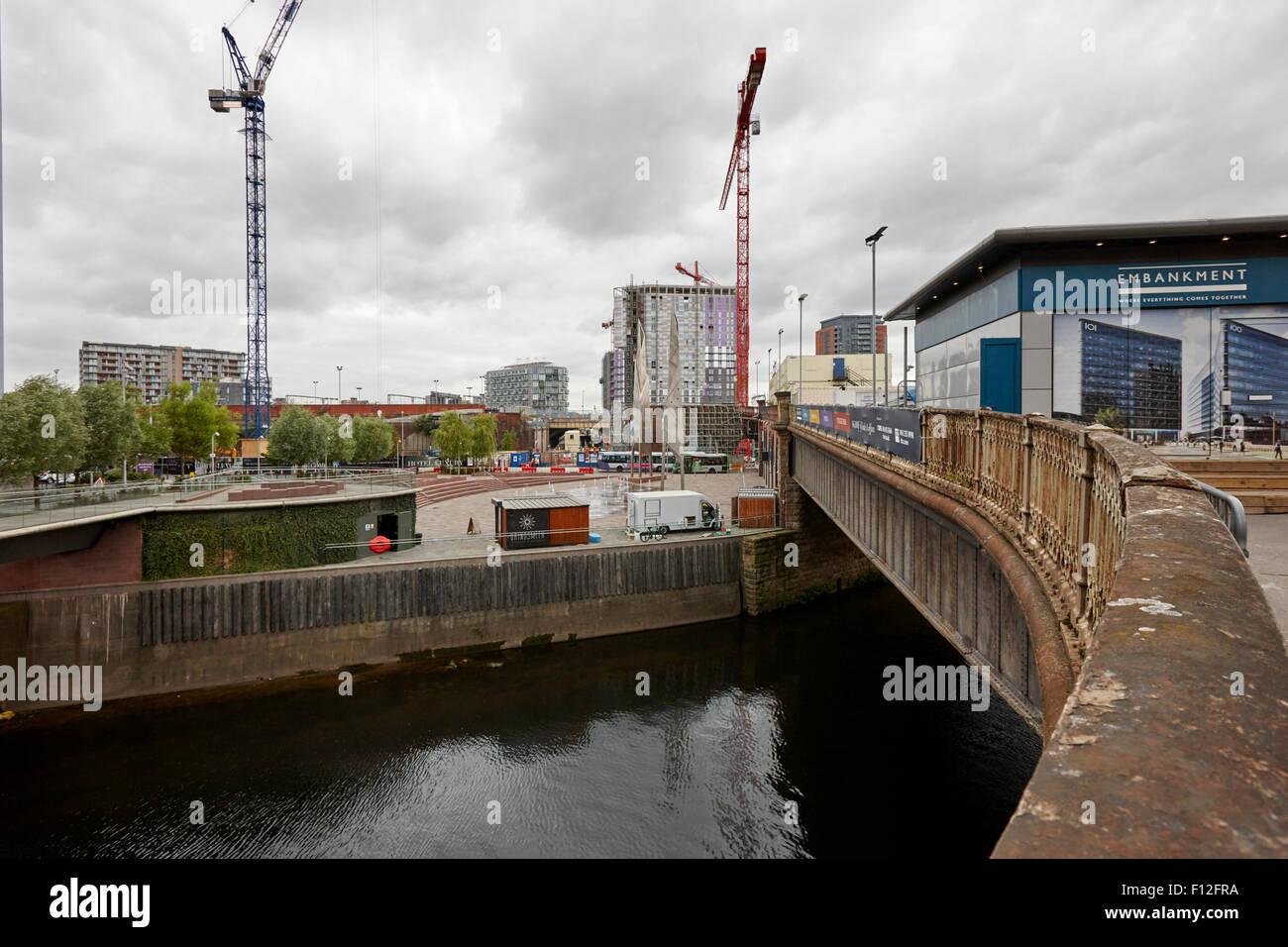 greengate embankment development between salford and Manchester uk - Stock Image