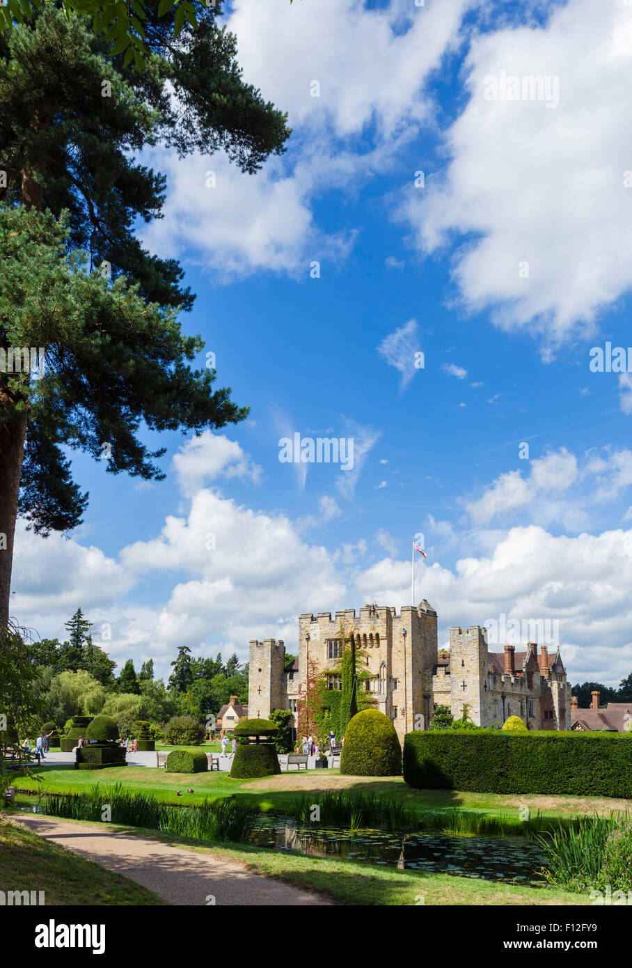 Hever Castle, family home of Anne Boleyn, Hever, Kent, England, UK Stock Photo