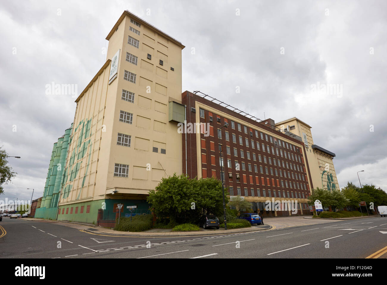 rank hovis flour mills salford Manchester uk Stock Photo