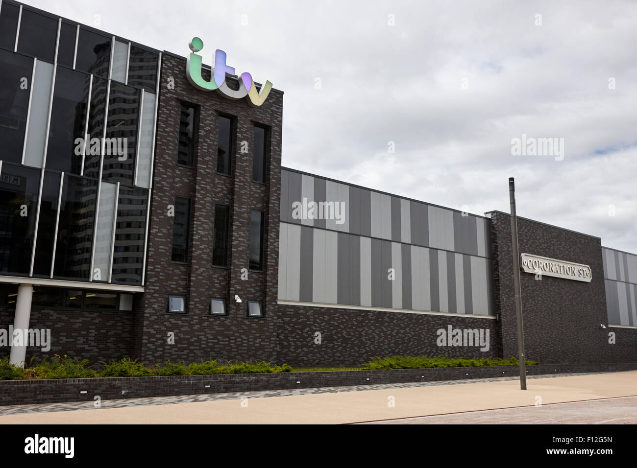 ITV coronation street studios salford mediacity Manchester uk - Stock Image