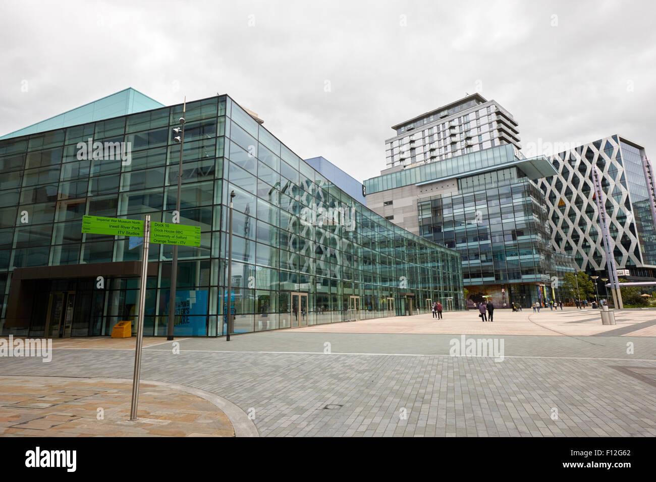 bbc the studios at mediacityuk salford Manchester uk - Stock Image